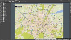 Stadtplan München Vektor, Maßstab 1:40.000, Basiskarte München, Vektorkarte München, Stadtkarte München, Vektorkarte München